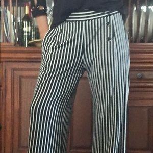 Pants - Black/white striped slacks❤️